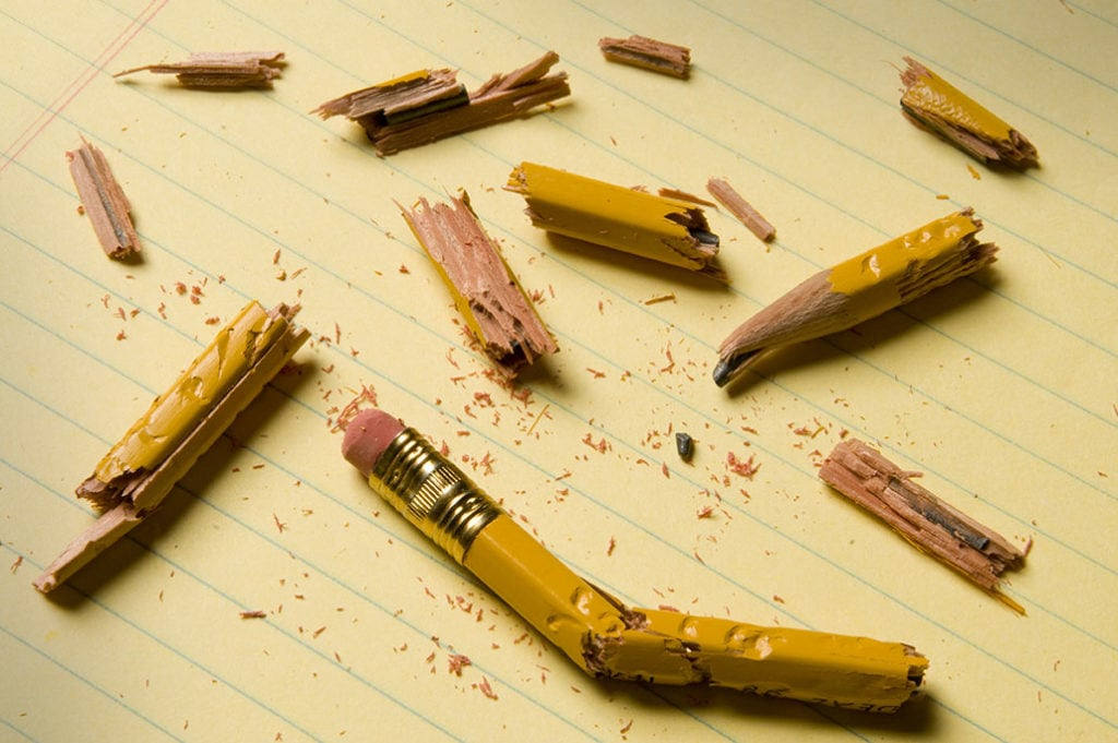 Broken pencils!