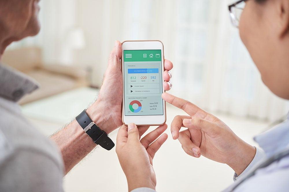 Doctors using smartphones for health data