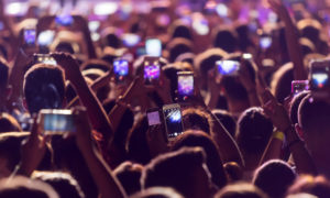crowd using smart phones